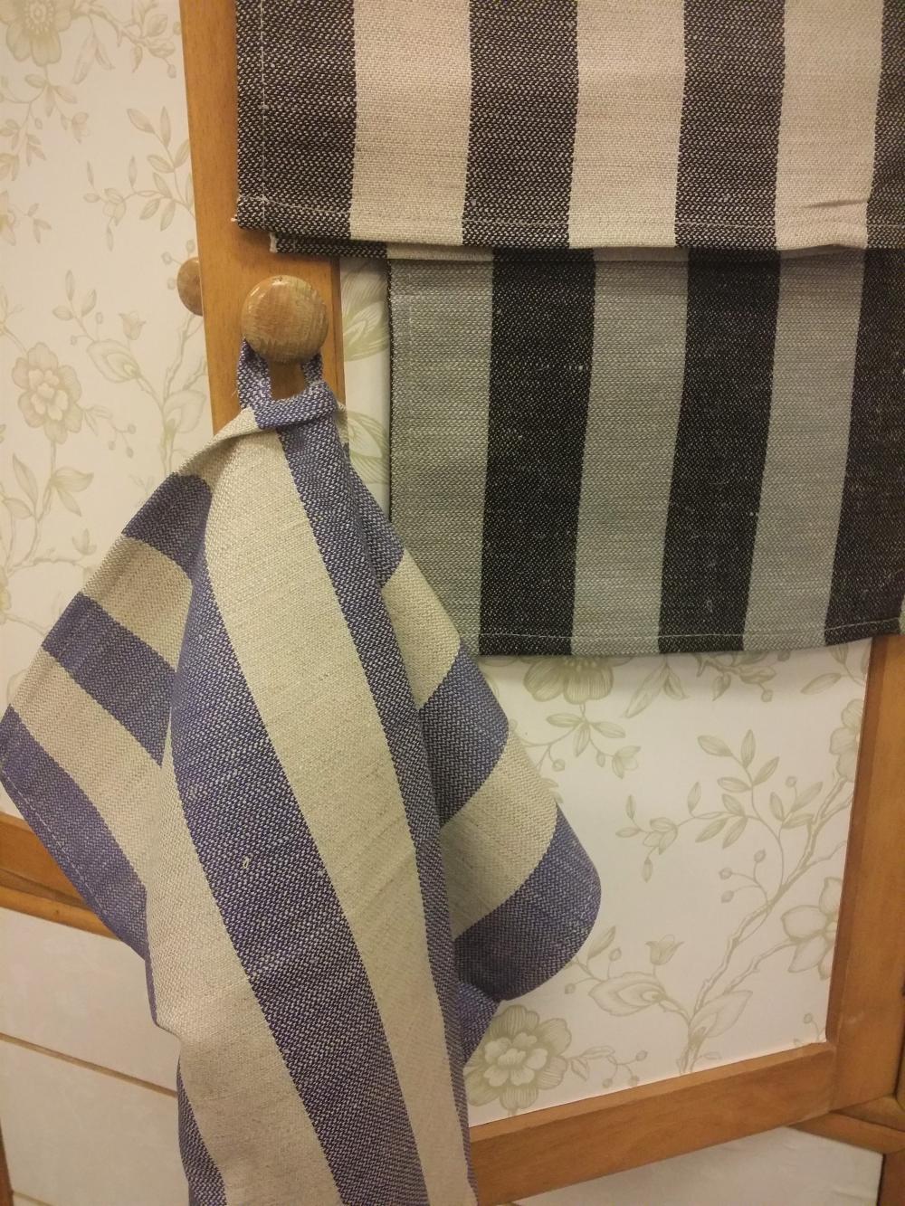 Handduk svart/beige